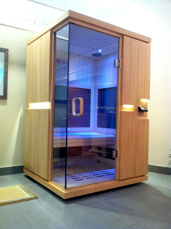 Infrared sauna blue halo med spa for Spa treatment near me